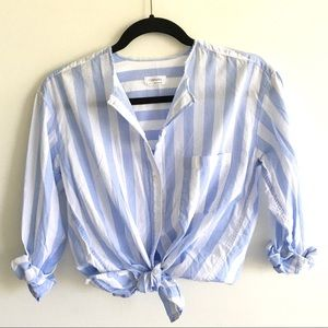ARITZIA Community Oversized Striped Button Front